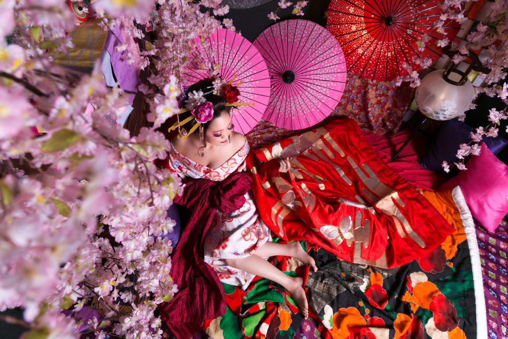 京都の花魁体験でインスタ映え