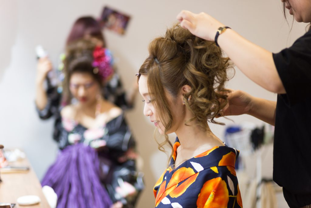 京都の花魁体験「雅」のセット内容